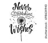 inspirational vintage hand... | Shutterstock .eps vector #698634940