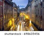 lisbon downtown at night   Shutterstock . vector #698635456