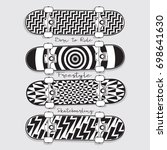 skate board sport typography ... | Shutterstock .eps vector #698641630