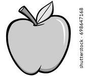 apple illustration | Shutterstock .eps vector #698647168