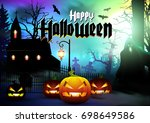 halloween. | Shutterstock .eps vector #698649586