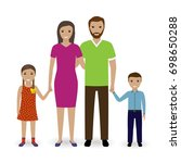 family people standing together.... | Shutterstock . vector #698650288