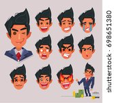 face emotional collections of... | Shutterstock .eps vector #698651380