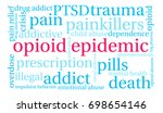 opioid epidemic word cloud on a ... | Shutterstock .eps vector #698654146