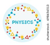 physics flat icon set.... | Shutterstock . vector #698656513
