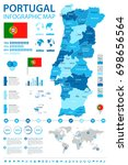 portugal infographic map and... | Shutterstock .eps vector #698656564