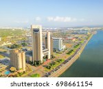 aerial view of corpus christi... | Shutterstock . vector #698661154