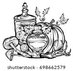 halloween. vector illustration. ...   Shutterstock .eps vector #698662579