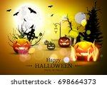 halloween | Shutterstock .eps vector #698664373