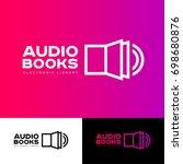 audio book logo. the book icon... | Shutterstock .eps vector #698680876
