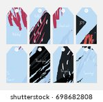 hand drawn creative tags.... | Shutterstock .eps vector #698682808