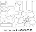 comic speech bubbles white... | Shutterstock .eps vector #698686558