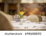 wedding  hall or other function ... | Shutterstock . vector #698688850