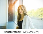 modern business woman in the... | Shutterstock . vector #698691274