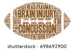 concussion word cloud on a...   Shutterstock .eps vector #698692900