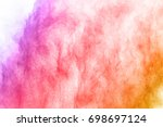 abstract colored dust explosion ... | Shutterstock . vector #698697124