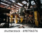 metal rusty equipment  large... | Shutterstock . vector #698706376