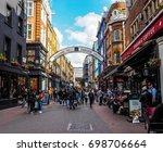 london  uk   circa june 2017 ... | Shutterstock . vector #698706664