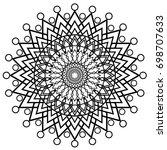 mandala vector illustration | Shutterstock .eps vector #698707633