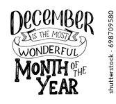 december inspirational quote.... | Shutterstock .eps vector #698709580
