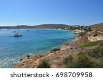 a view of krotiri bay and beach ... | Shutterstock . vector #698709958
