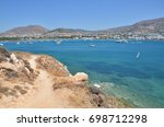 view of paros port town from... | Shutterstock . vector #698712298