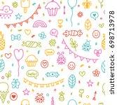 background for cute little boys ... | Shutterstock .eps vector #698713978