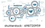 marketing mechanism concept.... | Shutterstock .eps vector #698720959
