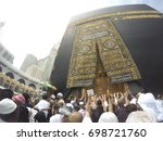 mecca  saudi arabia  april 13... | Shutterstock . vector #698721760
