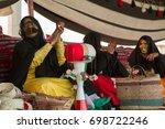 uae women local dress from al... | Shutterstock . vector #698722246