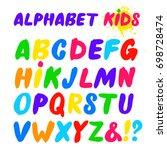 children's font in the cartoon... | Shutterstock .eps vector #698728474