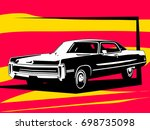 classic american coupe | Shutterstock .eps vector #698735098