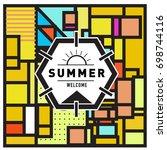 abstract geometric summer... | Shutterstock .eps vector #698744116