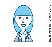 doctor profile cartoon | Shutterstock .eps vector #698749876