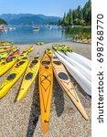 canoe  kayak and luxury yachts... | Shutterstock . vector #698768770