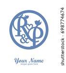 initial r   p wedding logo... | Shutterstock .eps vector #698774674