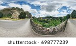 360  panorama in luxembourg city | Shutterstock . vector #698777239