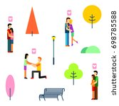 season background people... | Shutterstock .eps vector #698785588
