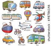 vector illustration of cartoon... | Shutterstock .eps vector #698786146