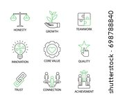 modern flat thin line icon set... | Shutterstock .eps vector #698788840