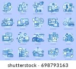 dollar conceptual design | Shutterstock .eps vector #698793163