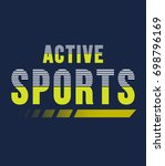 active sports typography  t... | Shutterstock .eps vector #698796169