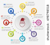 infographic template with... | Shutterstock .eps vector #698798518