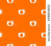 dental floss pattern repeat...   Shutterstock .eps vector #698804800