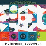 multipurpose social media kit... | Shutterstock .eps vector #698809579