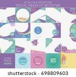 multipurpose social media kit... | Shutterstock .eps vector #698809603