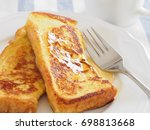 french toast with syrup | Shutterstock . vector #698813668