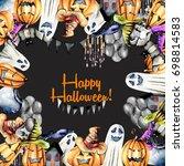 card template  frame from... | Shutterstock . vector #698814583