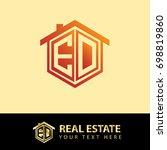 initial letter e d  ed logo ... | Shutterstock .eps vector #698819860