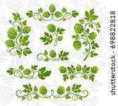 hop decoration elements for... | Shutterstock .eps vector #698822818